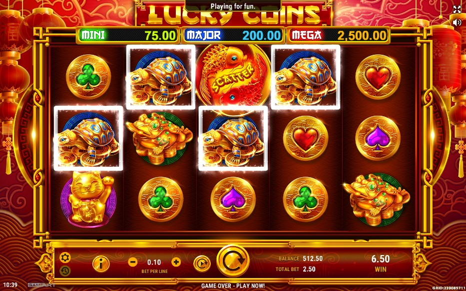 Lucky Coins Slot Gameplay