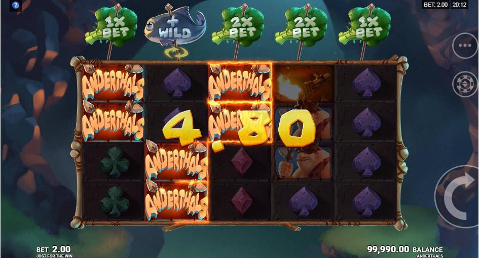 Anderthals Slot Gameplay