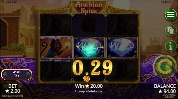 Arabian Spins Slot Gameplay