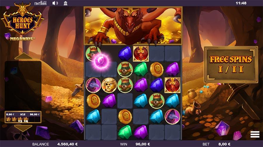 Heroes Hunt Megaways Slot Gameplay