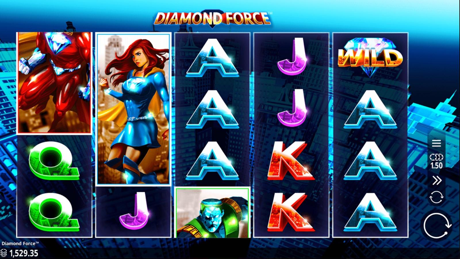 Diamond Force Slot Gameplay