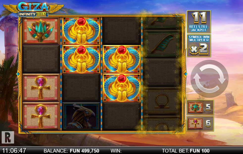 Giza Infinity Reels Slot Gameplay
