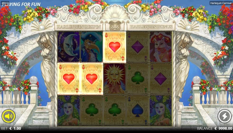 Harlequin Carnival Slot Gameplay