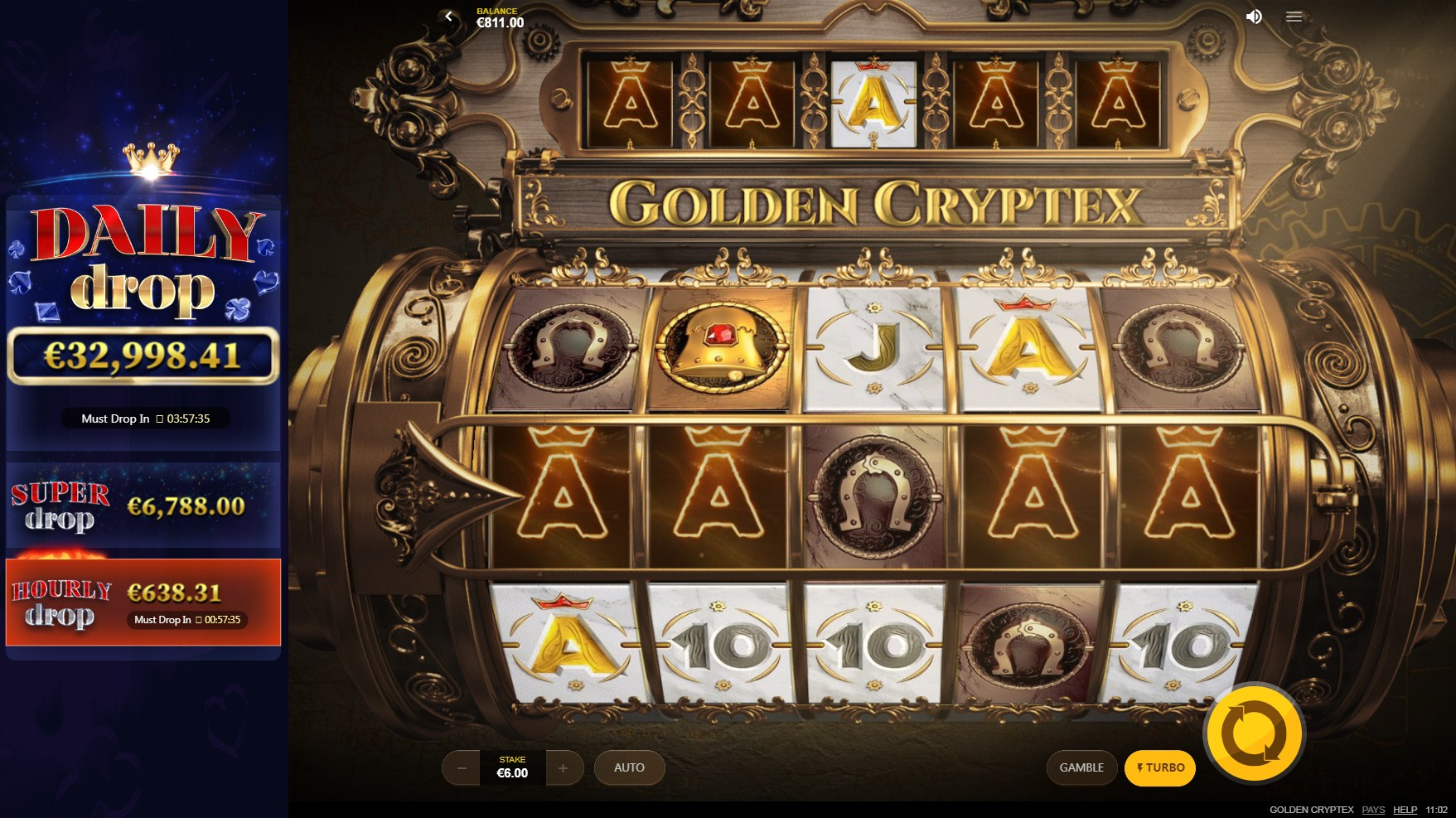 Golden Cryptex Slot Gameplay