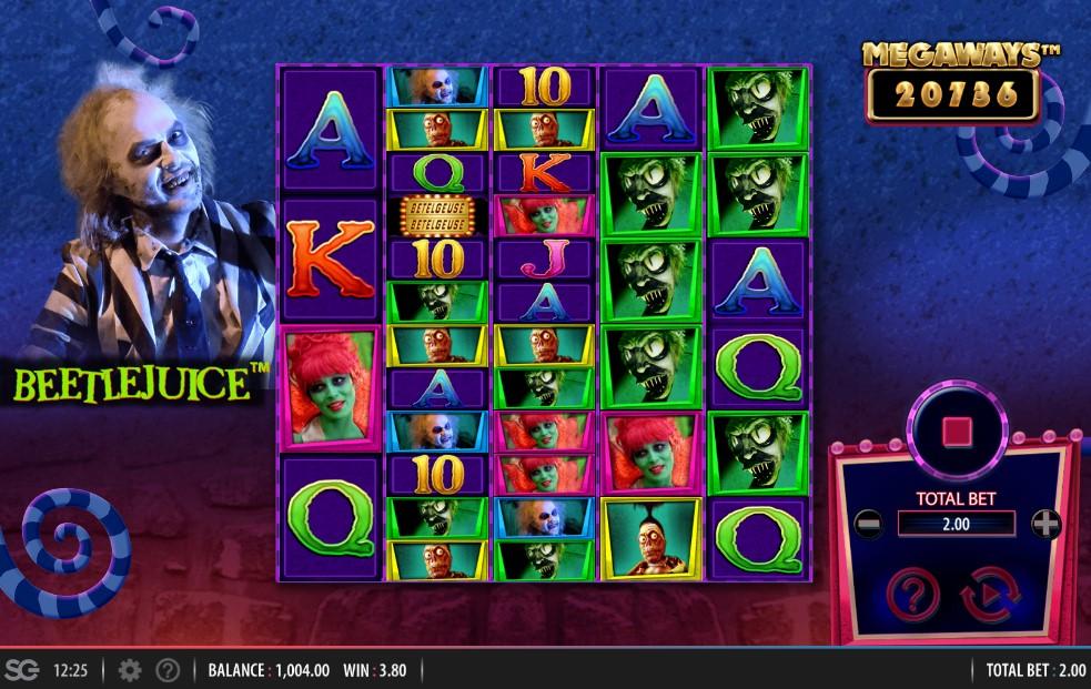 Beetlejuice Megaways Slot Gameplay