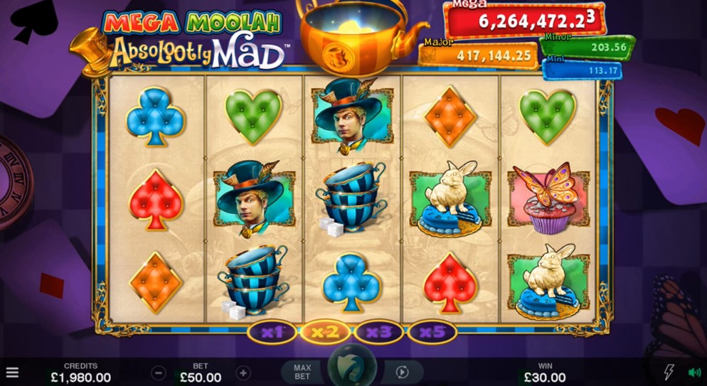 Absolootly Mad Mega Moolah Slot Gameplay