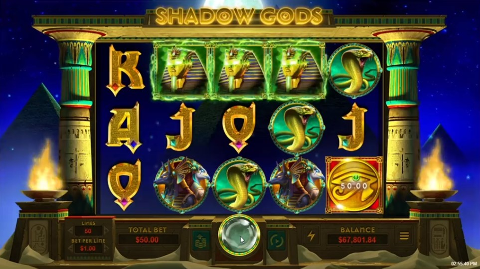 Shadow Gods Slot Gameplay