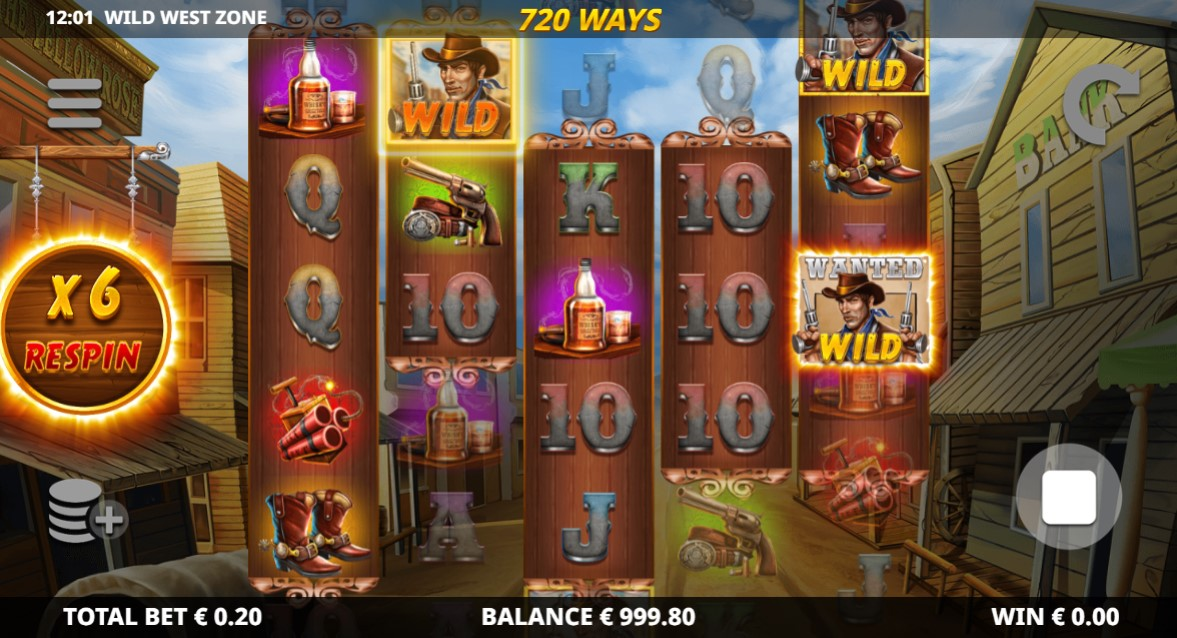 Wild West Zone Slot Gameplay