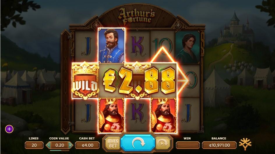 Arthur's Fortune Slot Gameplay