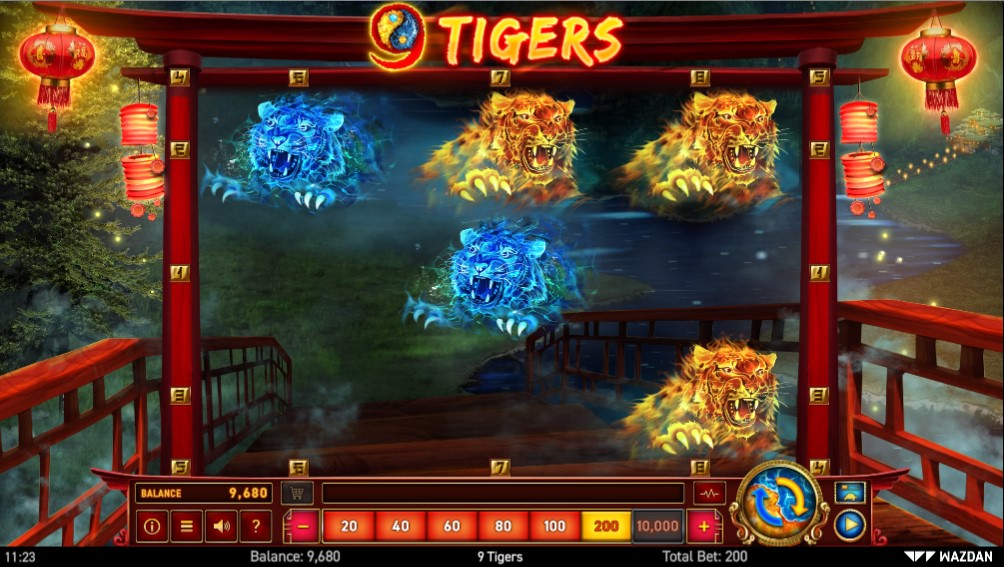 9 Tigers Slot Gameplay