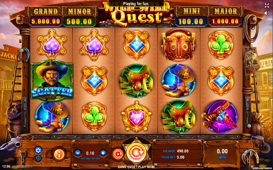 Wild Wild Quest Slot Gameplay