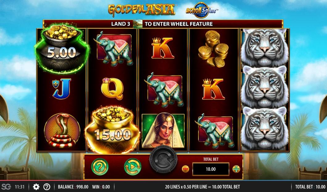 Golden Asia Slot Gameplay