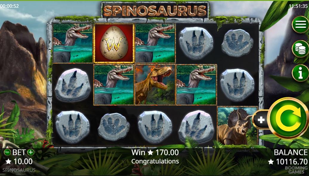Spinosaurus Slot Gameplay