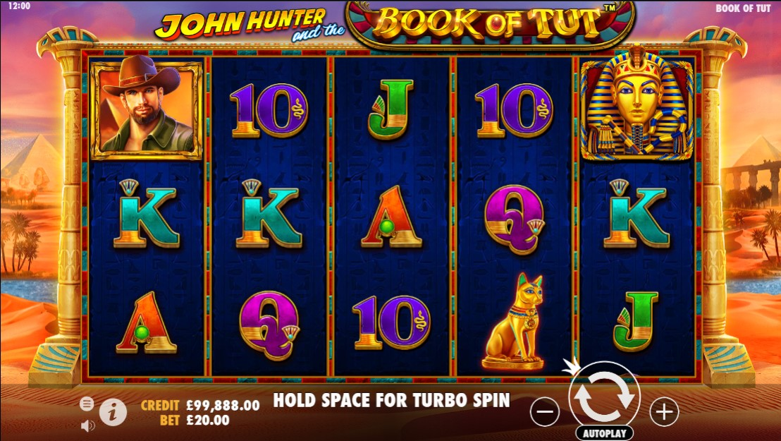 John Hunter and the Book of Tut Slot Gameplay