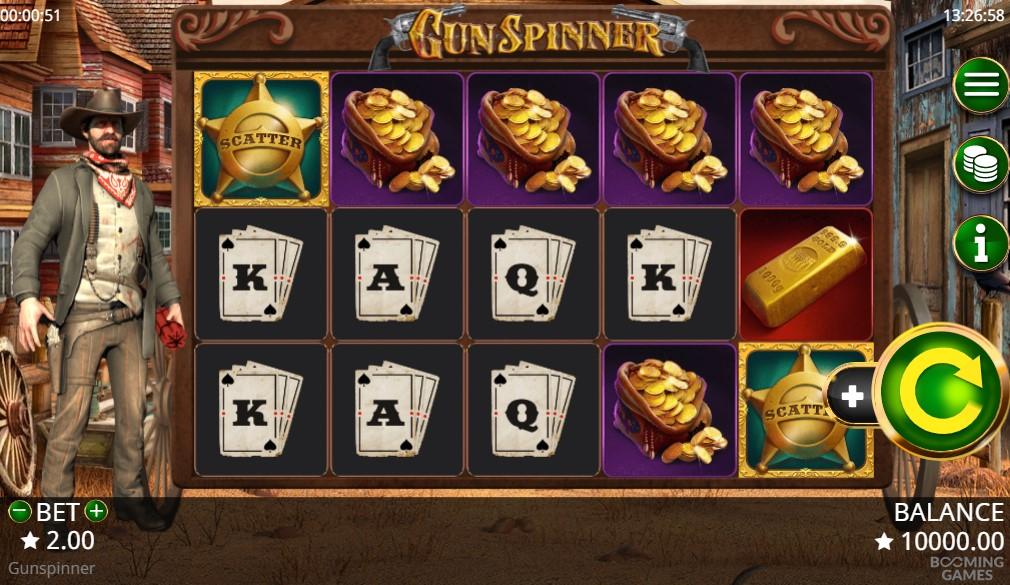 Gunspinner Slot Gameplay