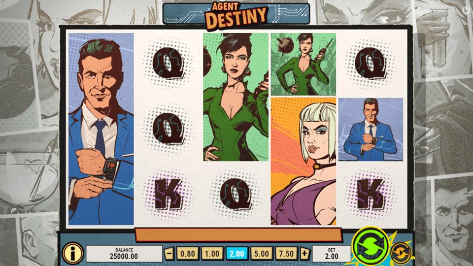 Agent Destiny Slot Gameplay