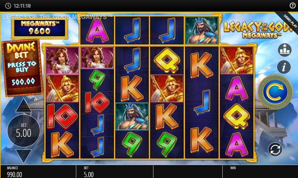 Legacy of the Gods Megaways Slot Gameplay
