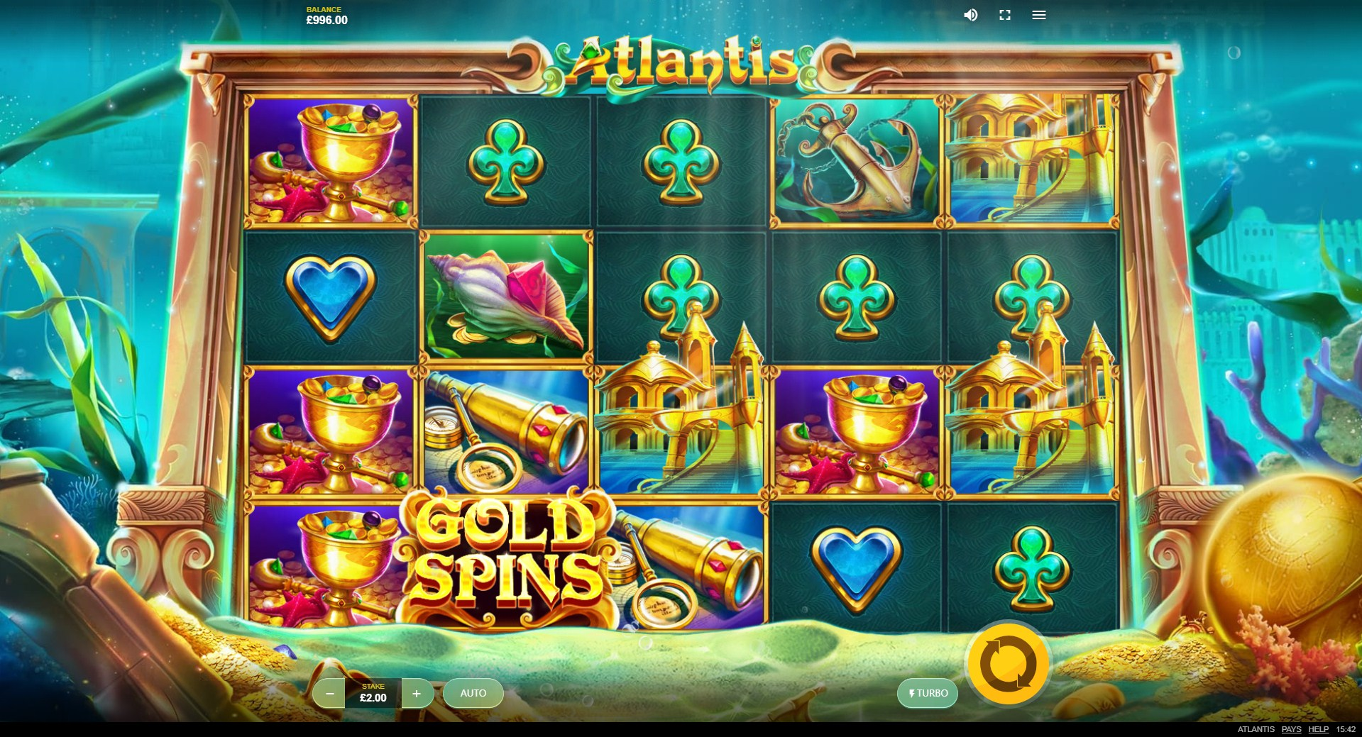 Atlantis Slot Gameplay