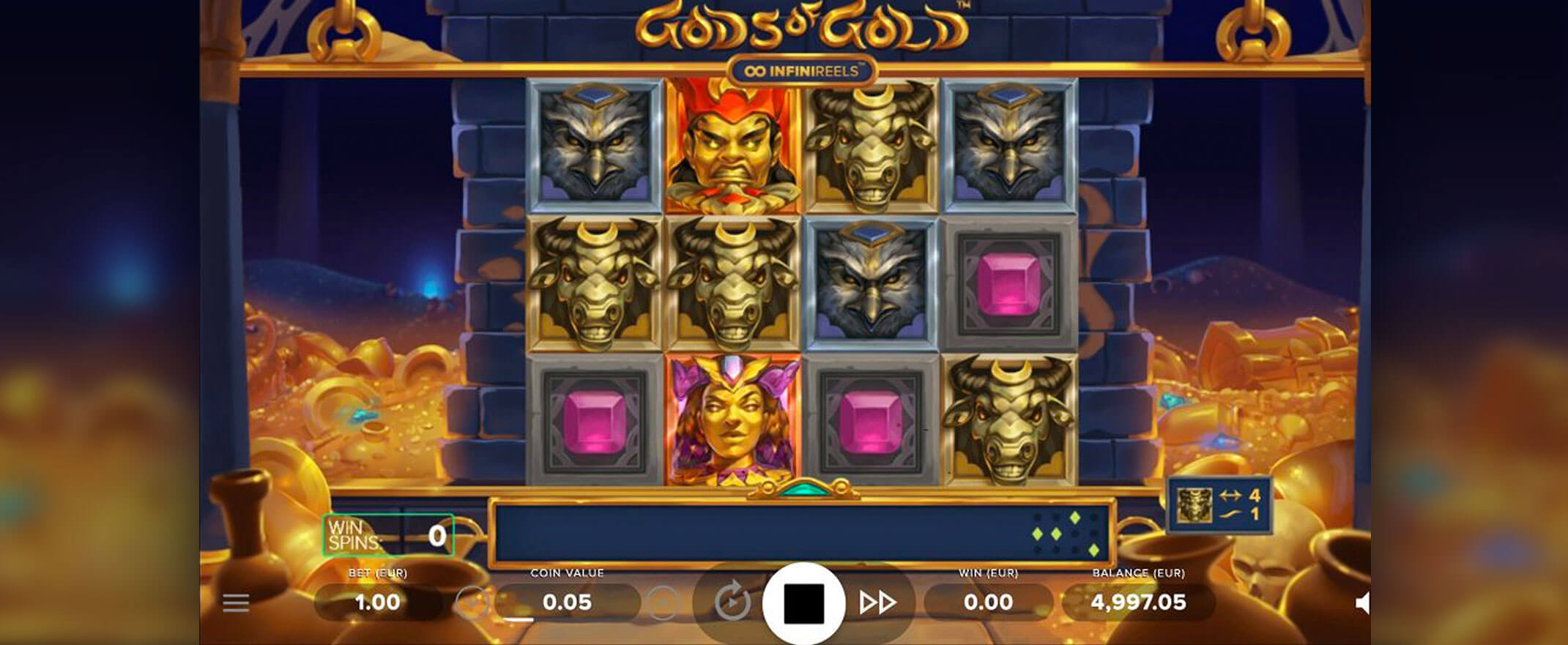 Gods of Gold InfiniReels Slot Gameplay