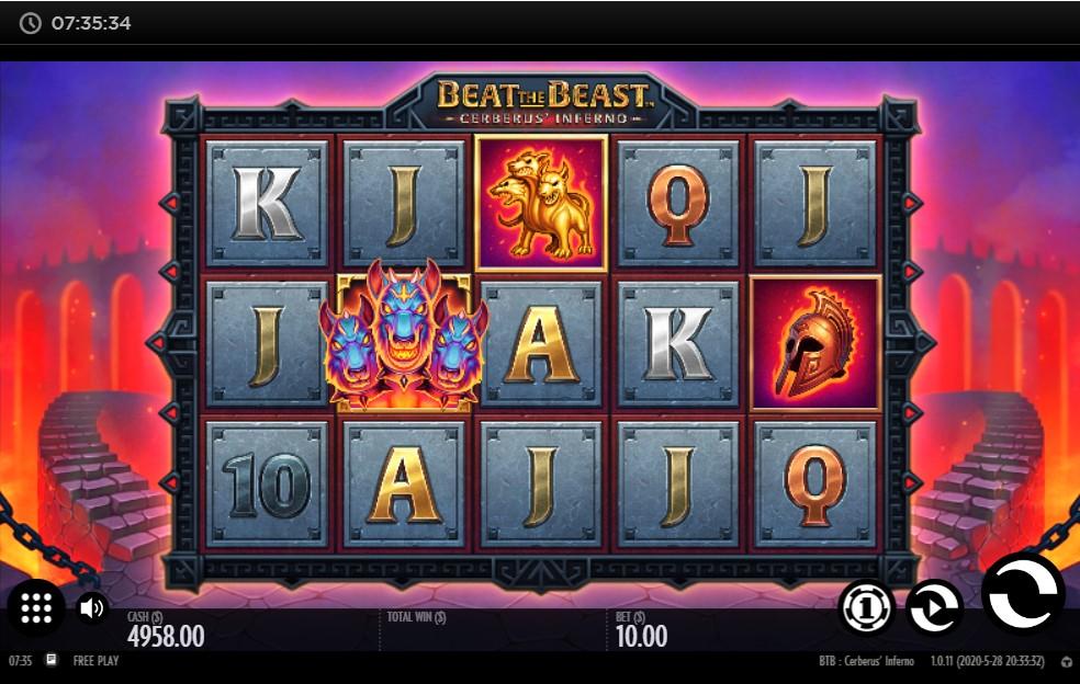 Beat the Beast Cerberus' Inferno Slot Gameplay