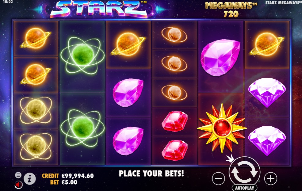 Starz Megaways Slot Gameplay