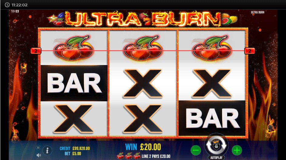 ultra-burn-slot-gameplay