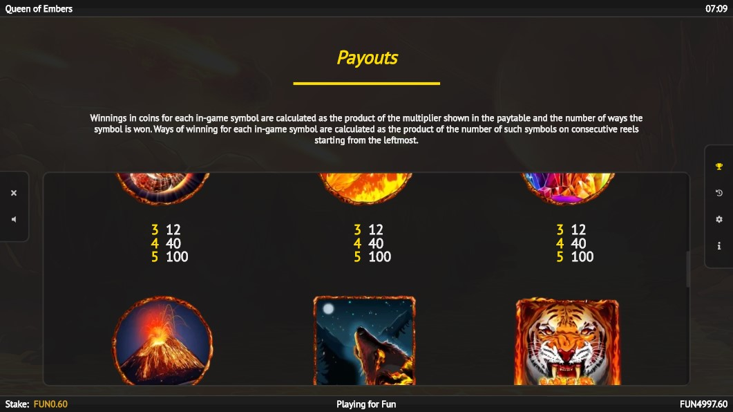 queen-of-embers-slot-paytable