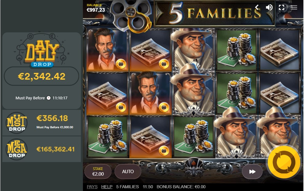 5-families-slot-gameplay