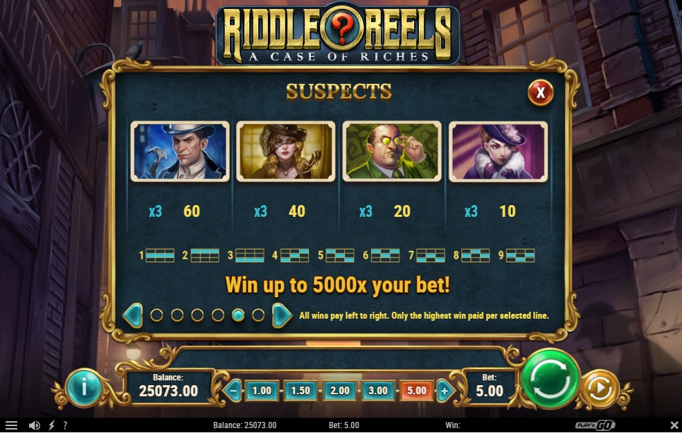 riddle-reels-a-case-of-riches-slot-paytable