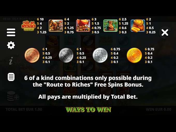 silk-road-riches-slot-paytable