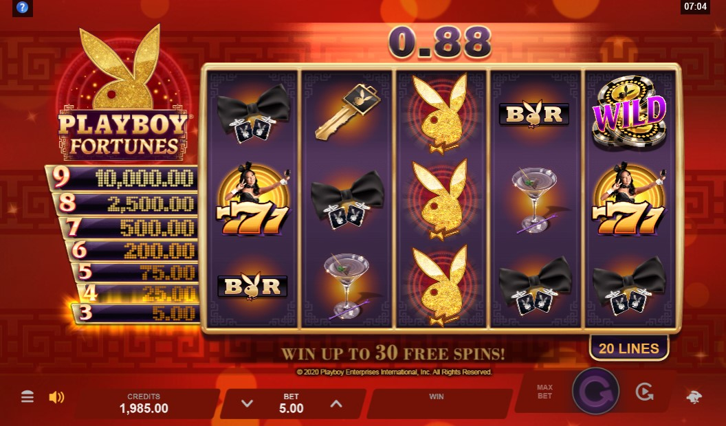 playboy-fortune-slot-gameplay
