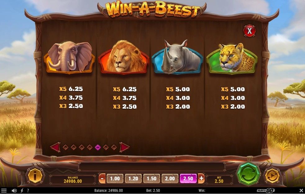 playboy-fortune-slot-paytable