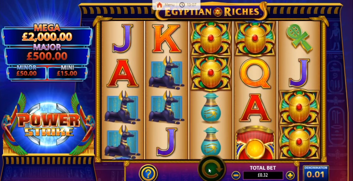 power-strike-egyptian-riches-slot-gameplay
