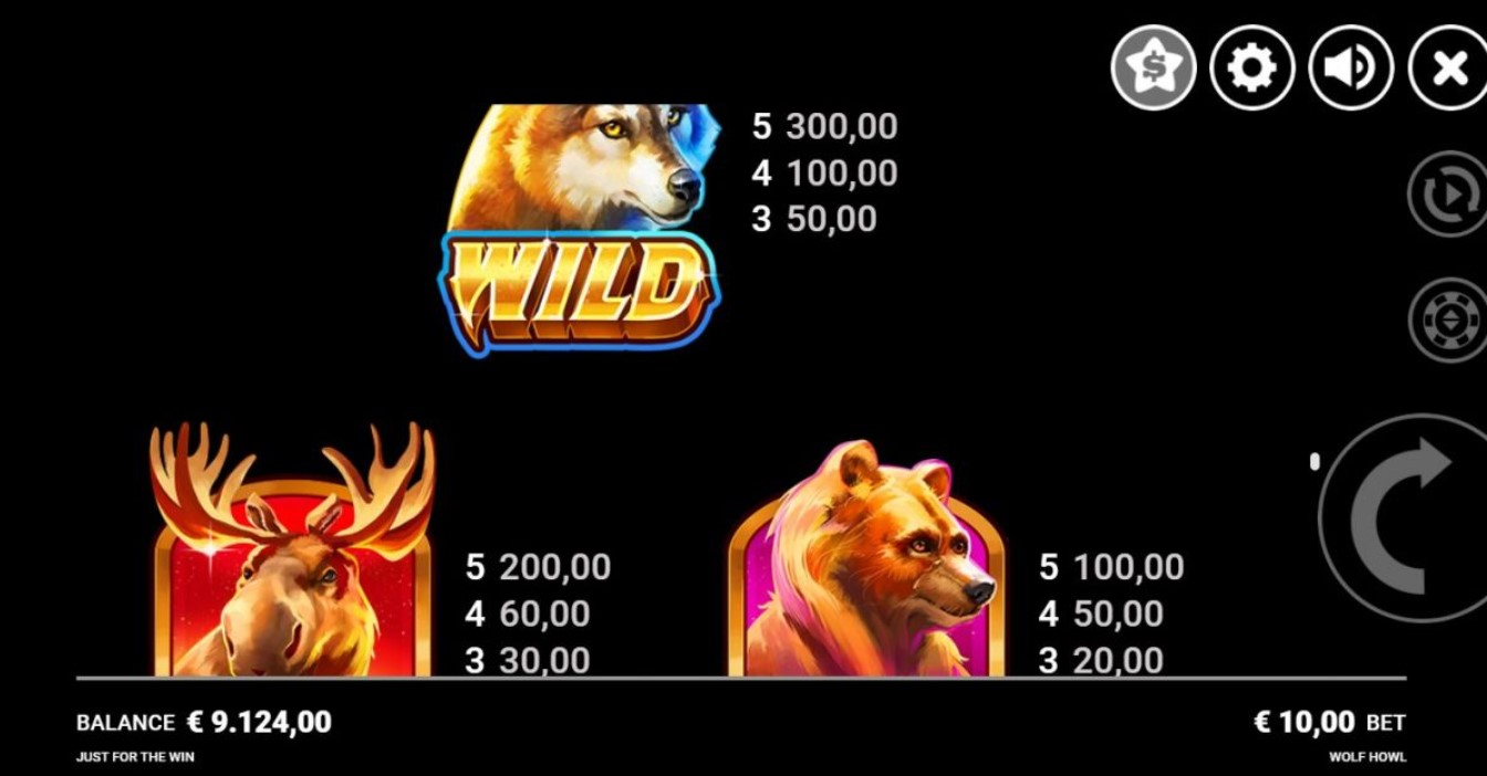 wolf-howl-slot-paytable