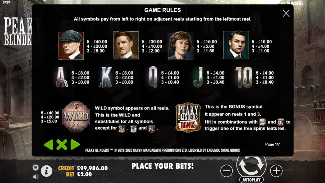 peaky-blinders-slot-paytable