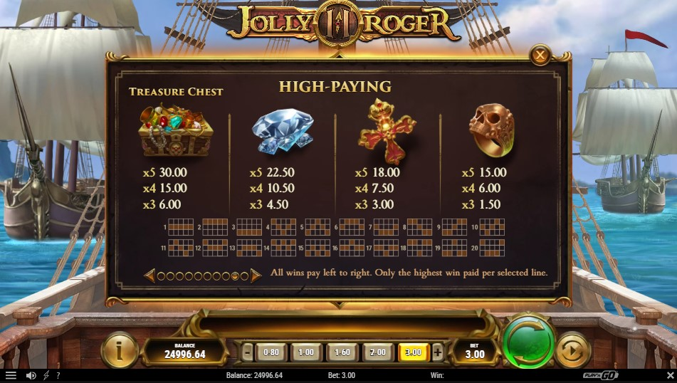 jolly-roger-2-slot-paytable