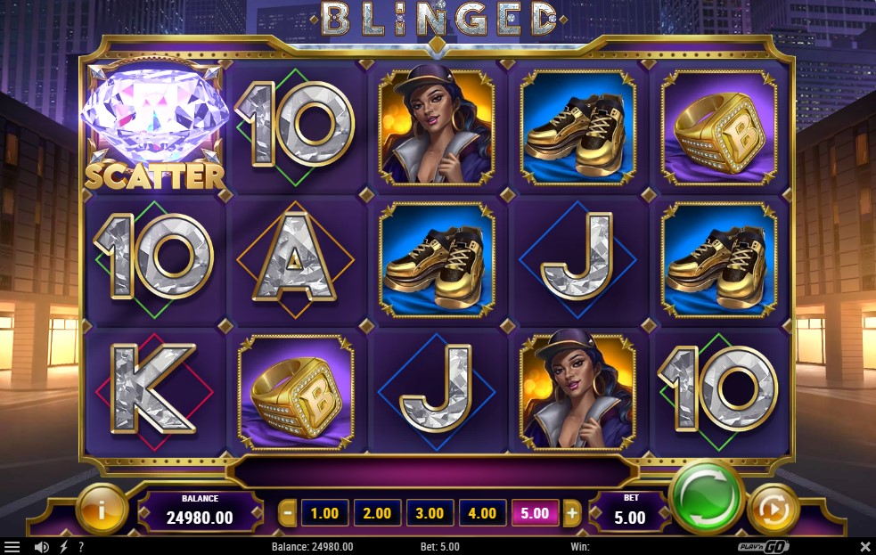 blinged-slot-gameplay