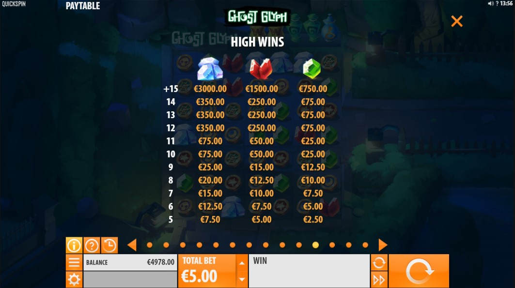 ghost-glyph-slot-paytable