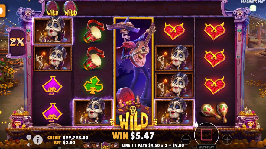 Day of Dead wild znaky