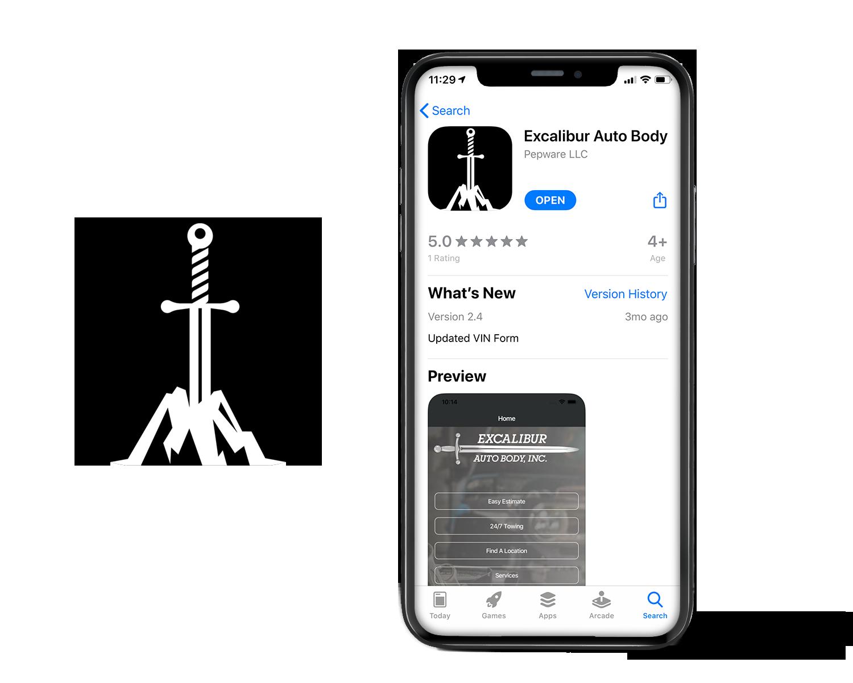 Excalibur Auto Body Mobile Application