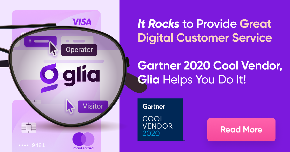 Glia Named a Gartner Cool Vendor in CRM Customer Service and Support