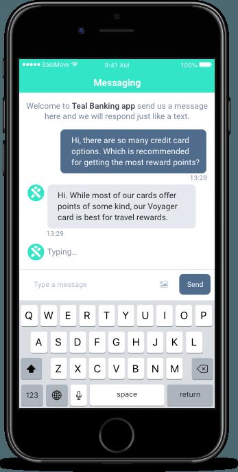 In-app messaging screen