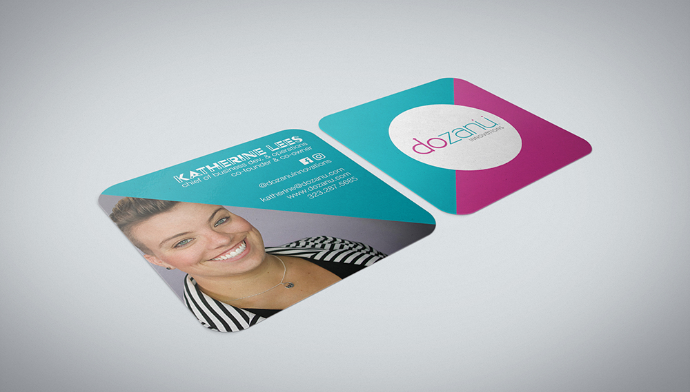 Dozanu Business Cards Mock Up