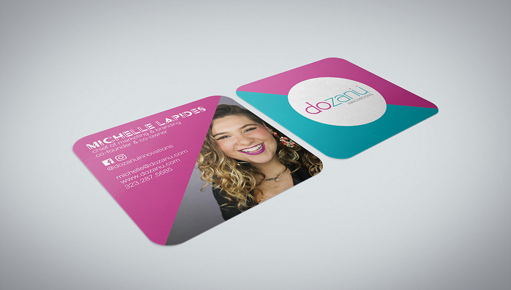 Dozanu Business Card Mock Up