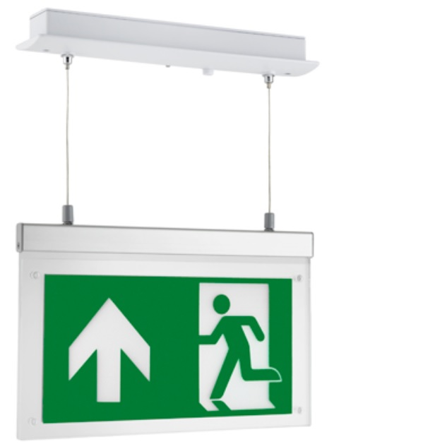 Hera Running Man Emergency Exit Wall/Ceiling Mounted Sign
