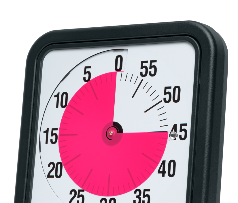 A Time Timer clock made for timeboxing.
