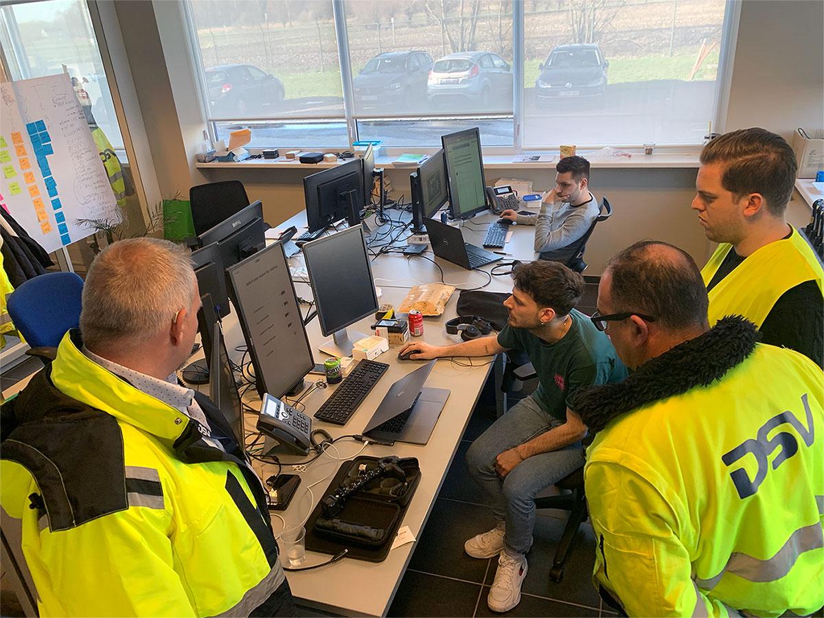 Development work going on, on site at DSV