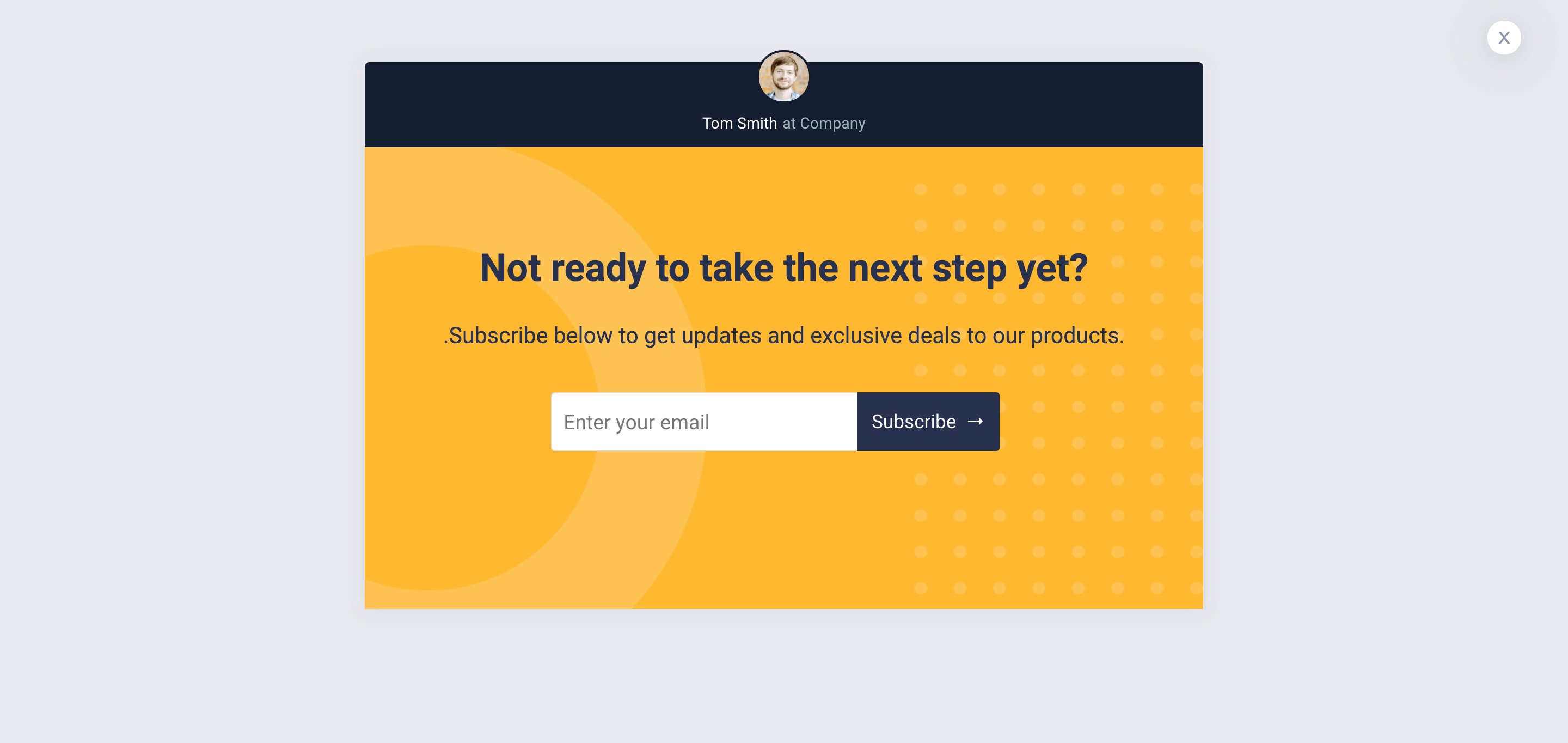 Exit Popup Template