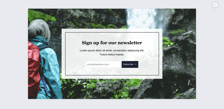 Newsletter Popup Template